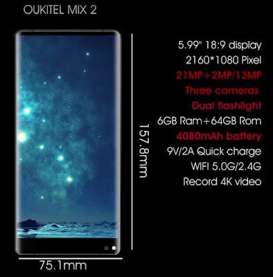 Oukitel MIX 2 specs