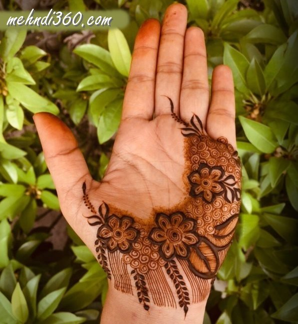 Nature Special Henna Design Front Hand