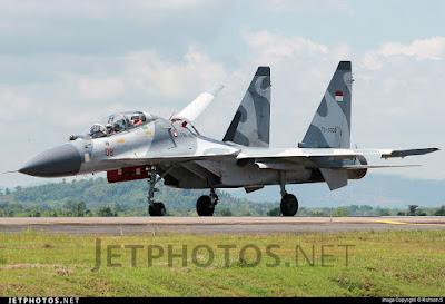 Pesawat Su-30MK2 TNI AU (photo : Richard S)