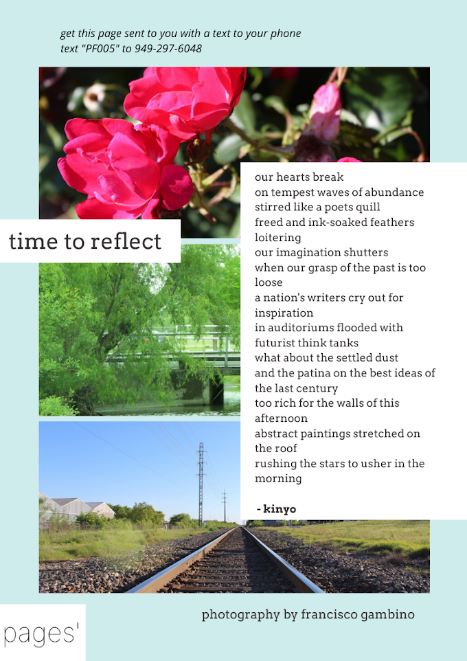 time to reflect, a beautiful new page of poetry and photography combining nostalgia and San Antonio