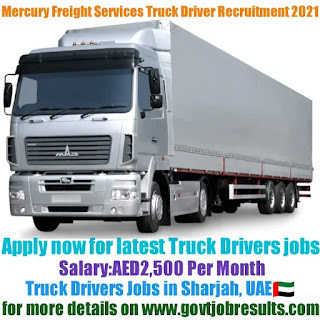 Mercury Freight Services Truck Driver Recruitment 2021-22