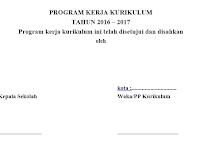 Download Program Kerja Wakasek SD/SMP/SMA Terbaru 2016/2017