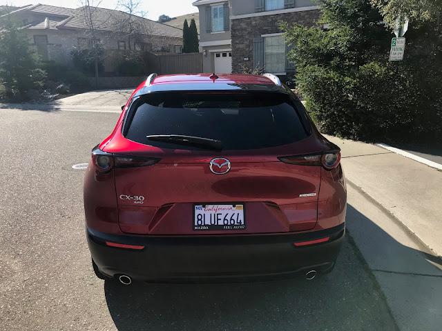 Rear view of 2020 Mazda CX-30 AWD Premium
