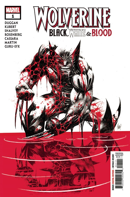Cover of Wolverine Black White & Blood #1 from Marvel Comics