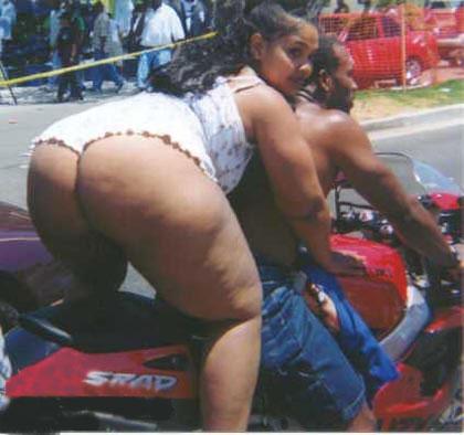 Nice Ass On Bike