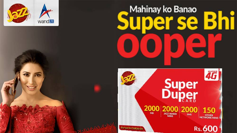 jazz super card 500 Rs,600