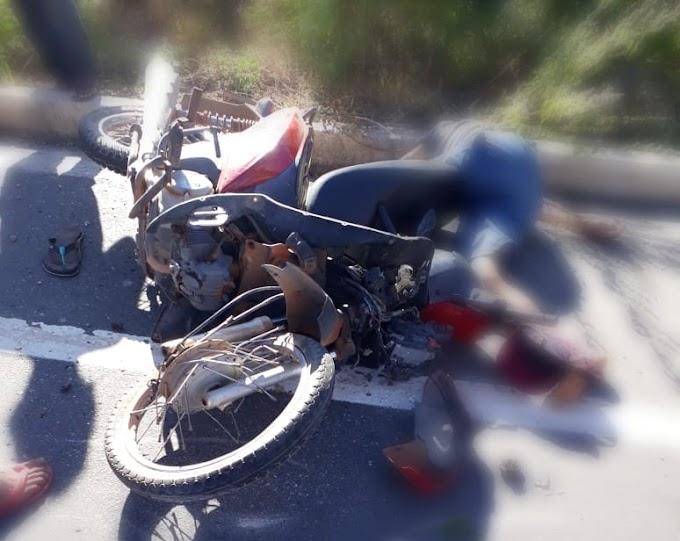 Homem em moto roubada morre após bater em animal na estrada de acesso a Serra do Mel