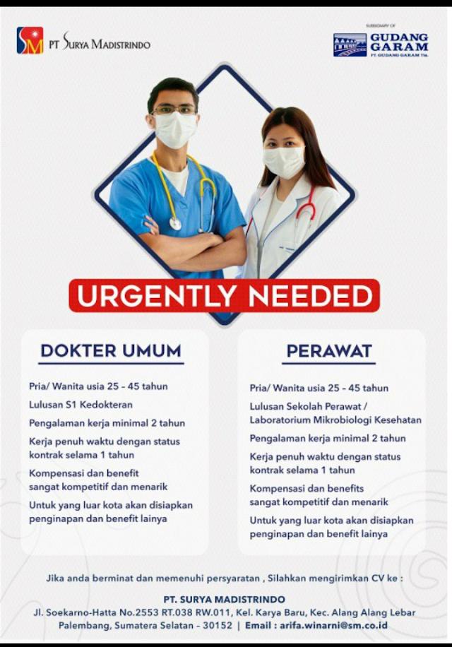 Loker Dokter PT Surya Madistrindo