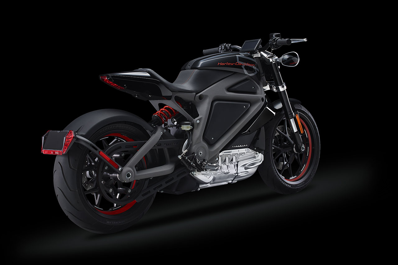 Electric Harley-Davidson Motorcycle back