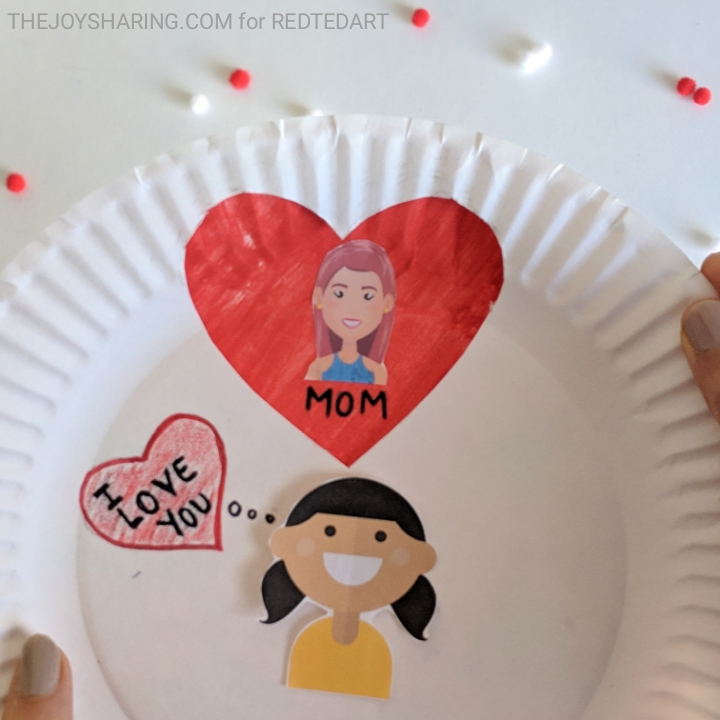 Valentine's Day Craft, Valentine's Day Gifts, Paper Craft, Paper Plate Craft, Preschool Crafts, Free printables, Kindergarten Craft