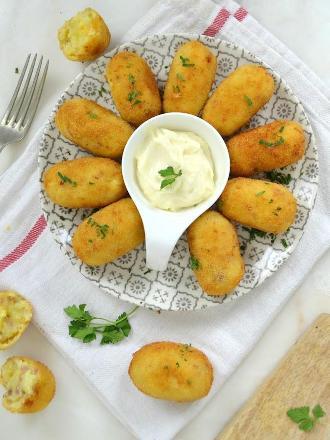 Croquetas de jamón y queso faciles ¡Sin bechamel!