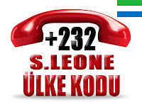 +232 Sierra Leone ülke telefon kodu