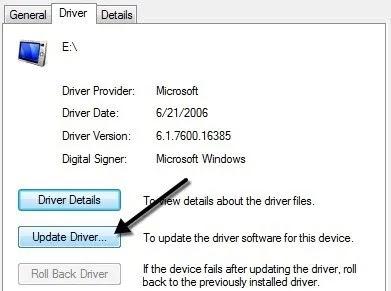 update driver usb, usb problem