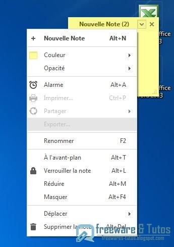 Simple Sticky Notes : un logiciel pour créer des notes et des pense-bêtes