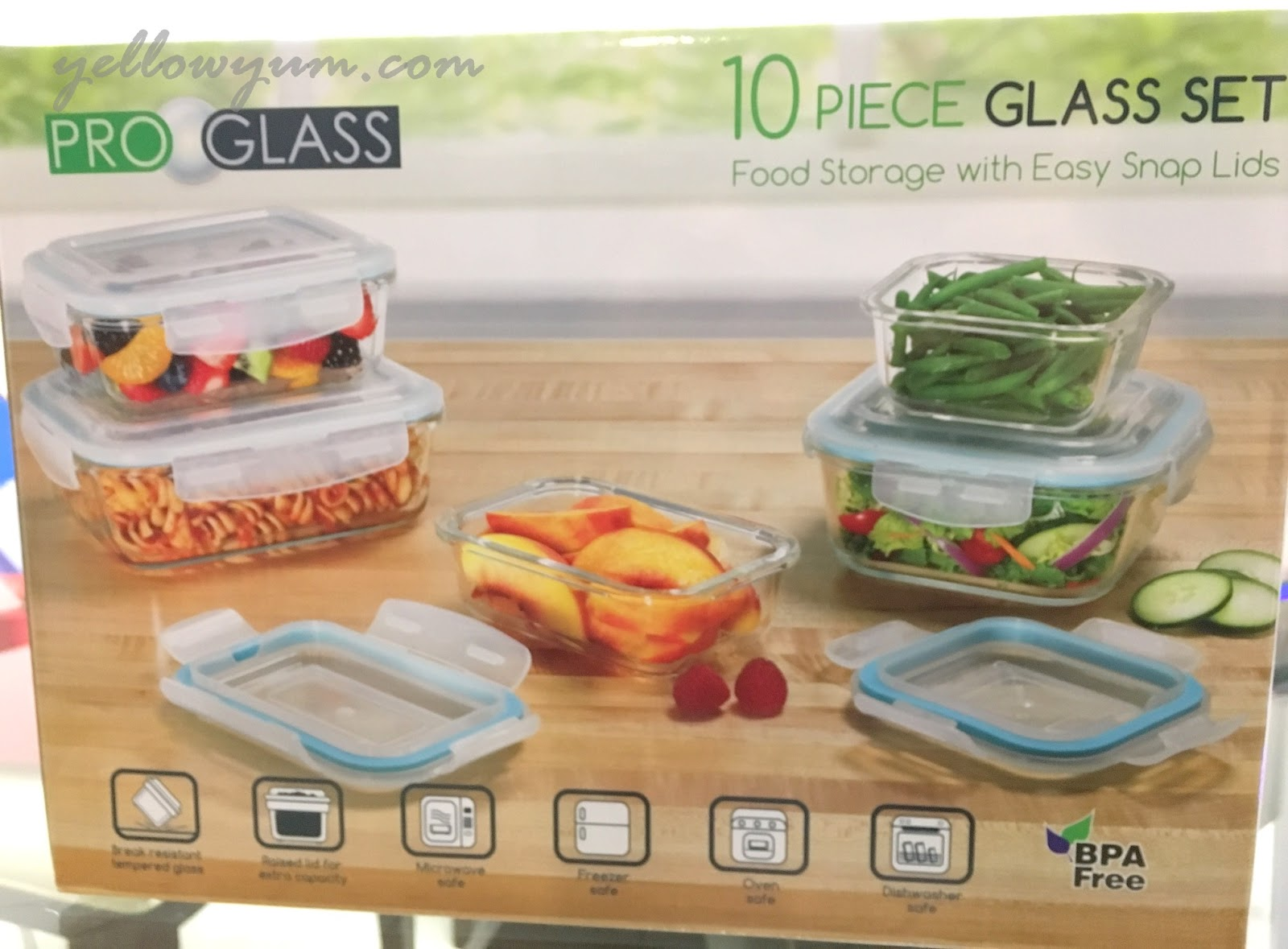This Set Comes With 5 Glass Containers With Their Corresponding Lids. Donu0027t  Be Confused Since It Says 10 Pieces.