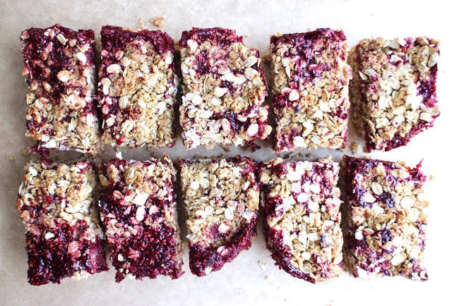 Raspberry and Coconut Crumble Bars