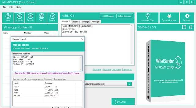 تحميل برنامج WhatSender_Pro_v5.0 مجانا