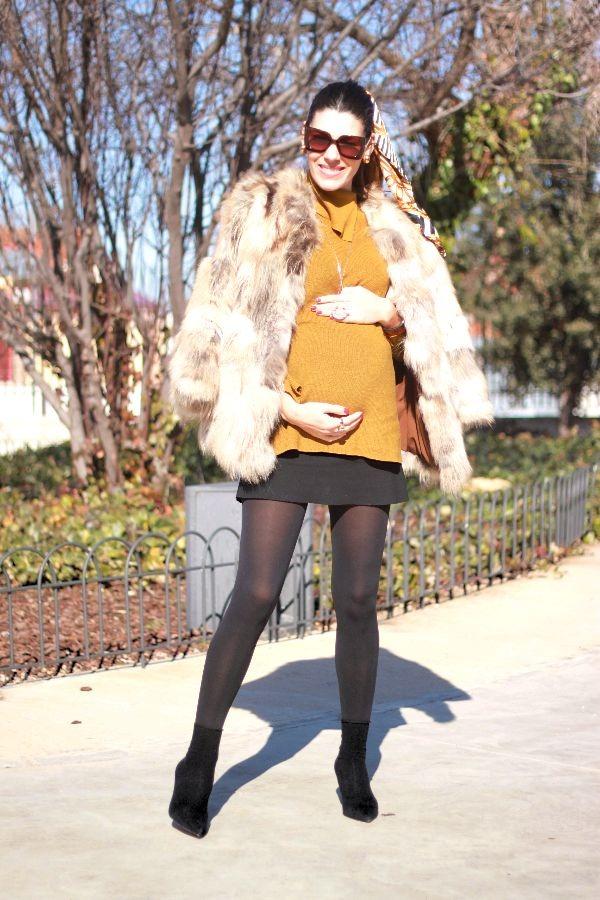 moda embarazada, stylo pregnancy, mostaza, look embarazo,