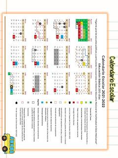 Calendario escolar 2021-2022 en PDF para imprimir