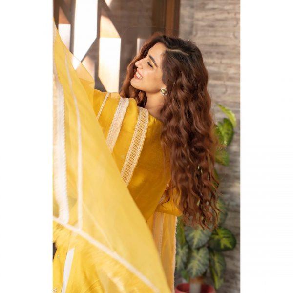 Maya Ali Looking Stunning in Yellow Dress
