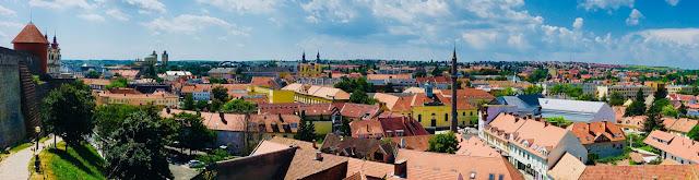 Eger widok panorama z zamku