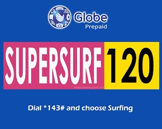 SUPERSURF120 - 3 Days Internet Promo for Globe and TM Subscribers