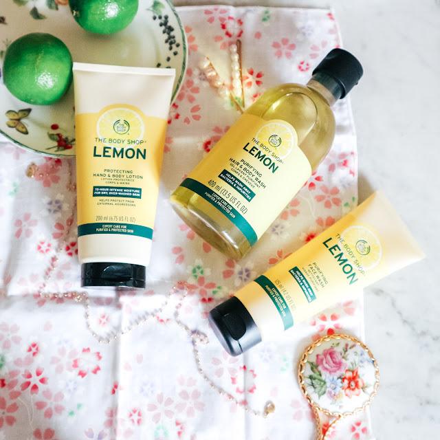La gamme lemon by the body shop