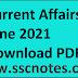 Current Affairs June 2021 - GK PDF Free Download