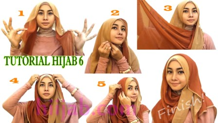 6 Cara Pakai Shawl Untuk Pipi Muka Tembam Tutup Dada