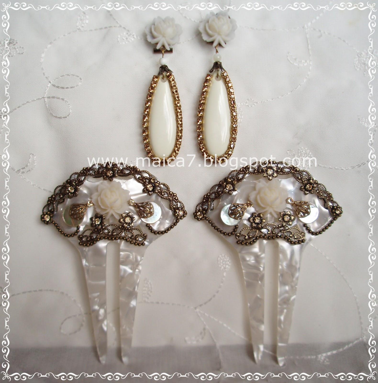 b1177c01db7d Complementos para novias  pendientes y tocados. Bisutería artesanal ...