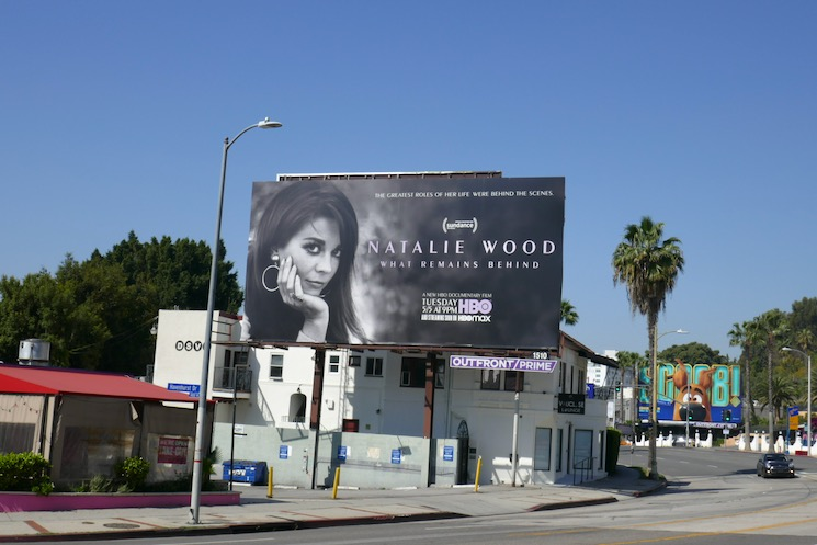 Natalie Wood What Remains Behind billboard