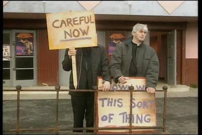 Fr. Ted and Fr. Dougal take a stance...