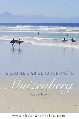 Surfing in Muizenberg