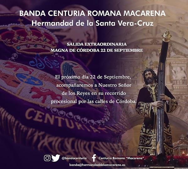 La centuria Romana Acompañará a la Vera Cruz de Córdoba en su regreso de la Magna Exposición de Nazarenos