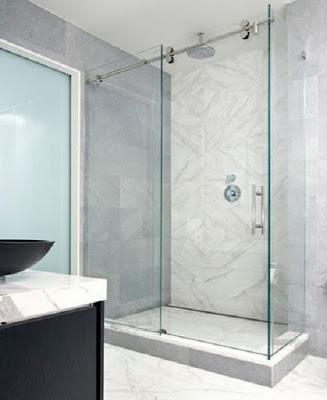 Vách tắm kính cửa lùa sử dụng cho phòng tắm gì