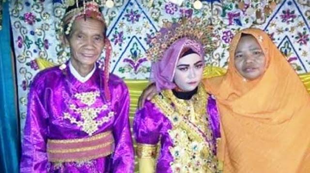 Nikah sama Kakek 75 Tahun, Gadis 18 Tahun Cemberut di Pelaminan