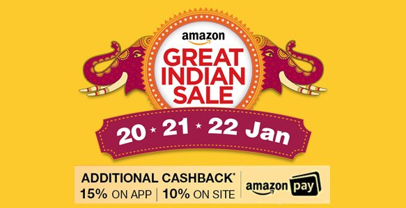 Amazon Great Indian Sale 20th - 22nd Jan 2017