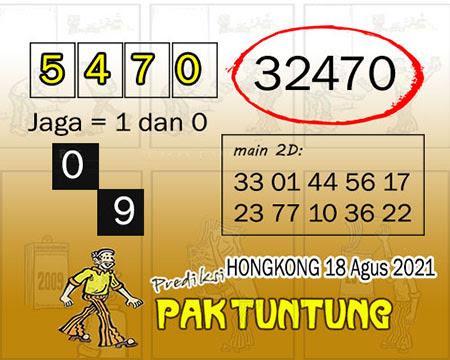 Syair HK Rabu 18 Agustus 2021 -