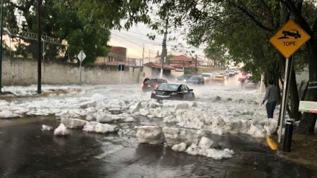 Guadalajara se pinta de blanco en pleno Julio (fotos y videos)