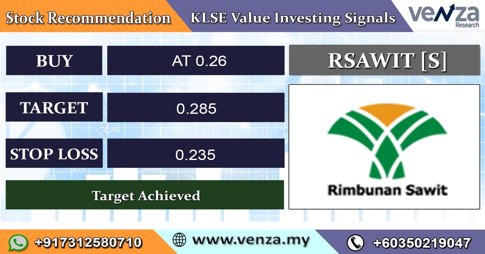 Bursa Malaysia Live Klse Rsawit S Stock Signals 06 March 2020
