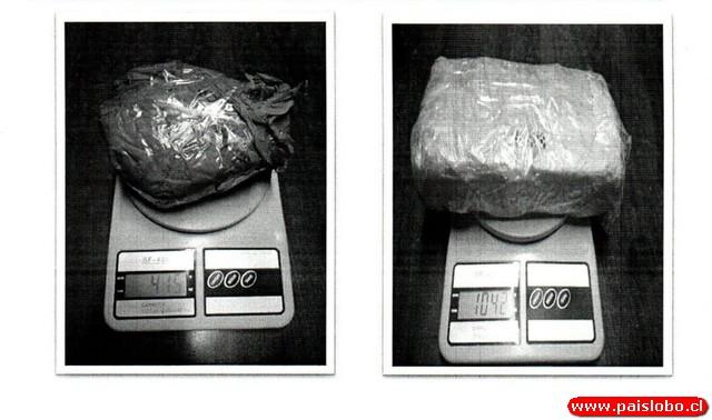 Descubiertos con un kilo de cocaína