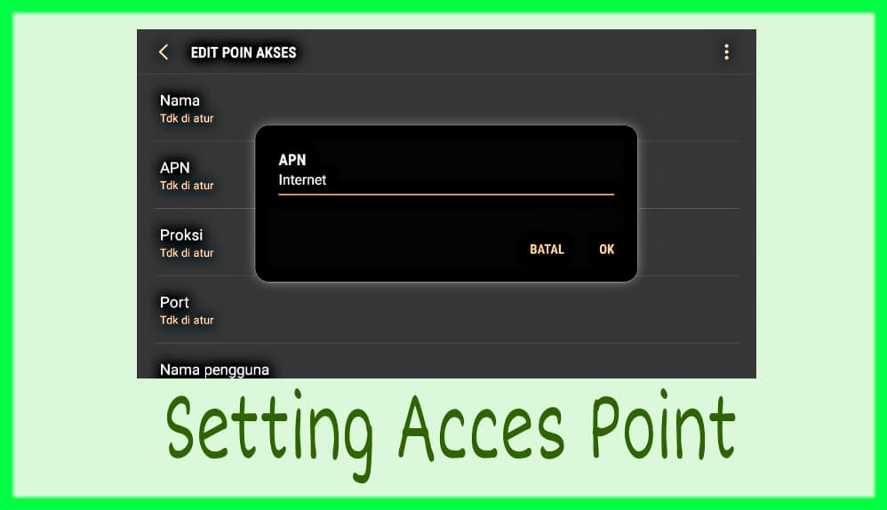 Cara setting akses point android