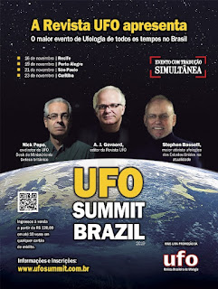 São Paulo recebe em novembro ufólogos que denunciam que o Governo Americano esconde a verdade sobre os discos voadores