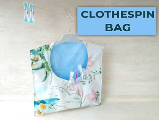 How to Make a Clothespin Bag, One of my favorites this week at Encouraging Hearts and Home, link-up your creations, right here at Scratch Made Food! & DIY Homemade Household!