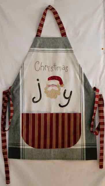 Free Easy Christmas Apron, Sew Happy