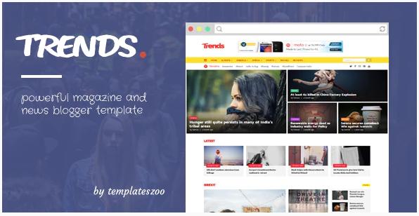 Trends Template Blogger News Magazine