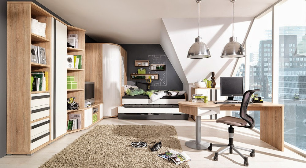cuarto juvenil moderno