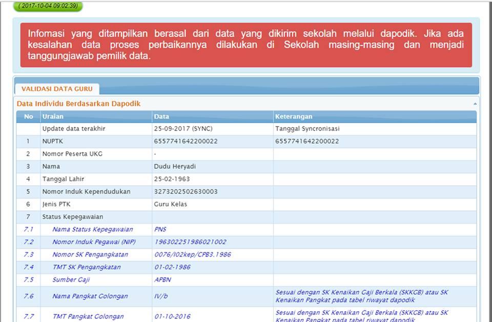 Prosedur Cek Info GTK melalui Aplikasi SIMPKB - Tim Dapodik