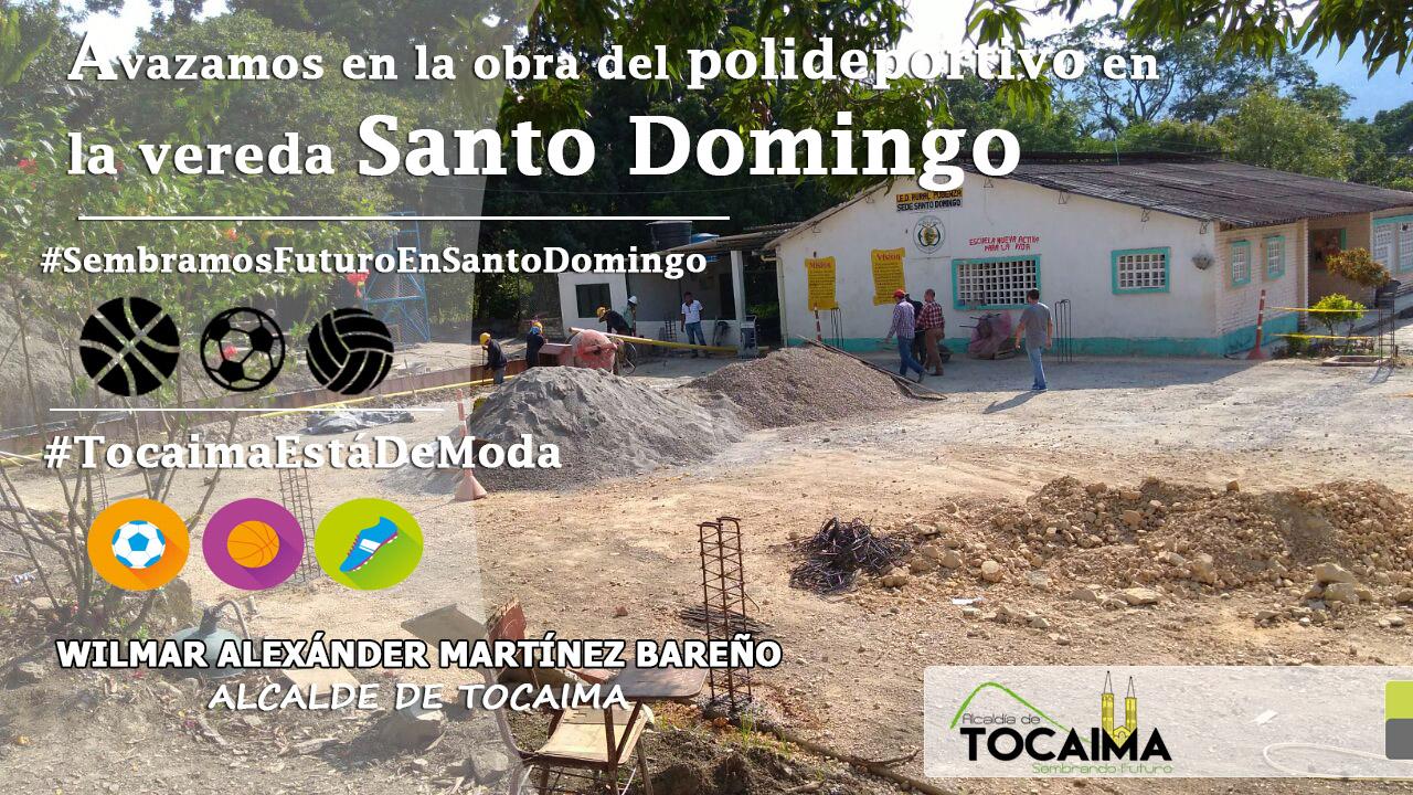 Avanzamos en la obra del polideportivo de Santo Domingo