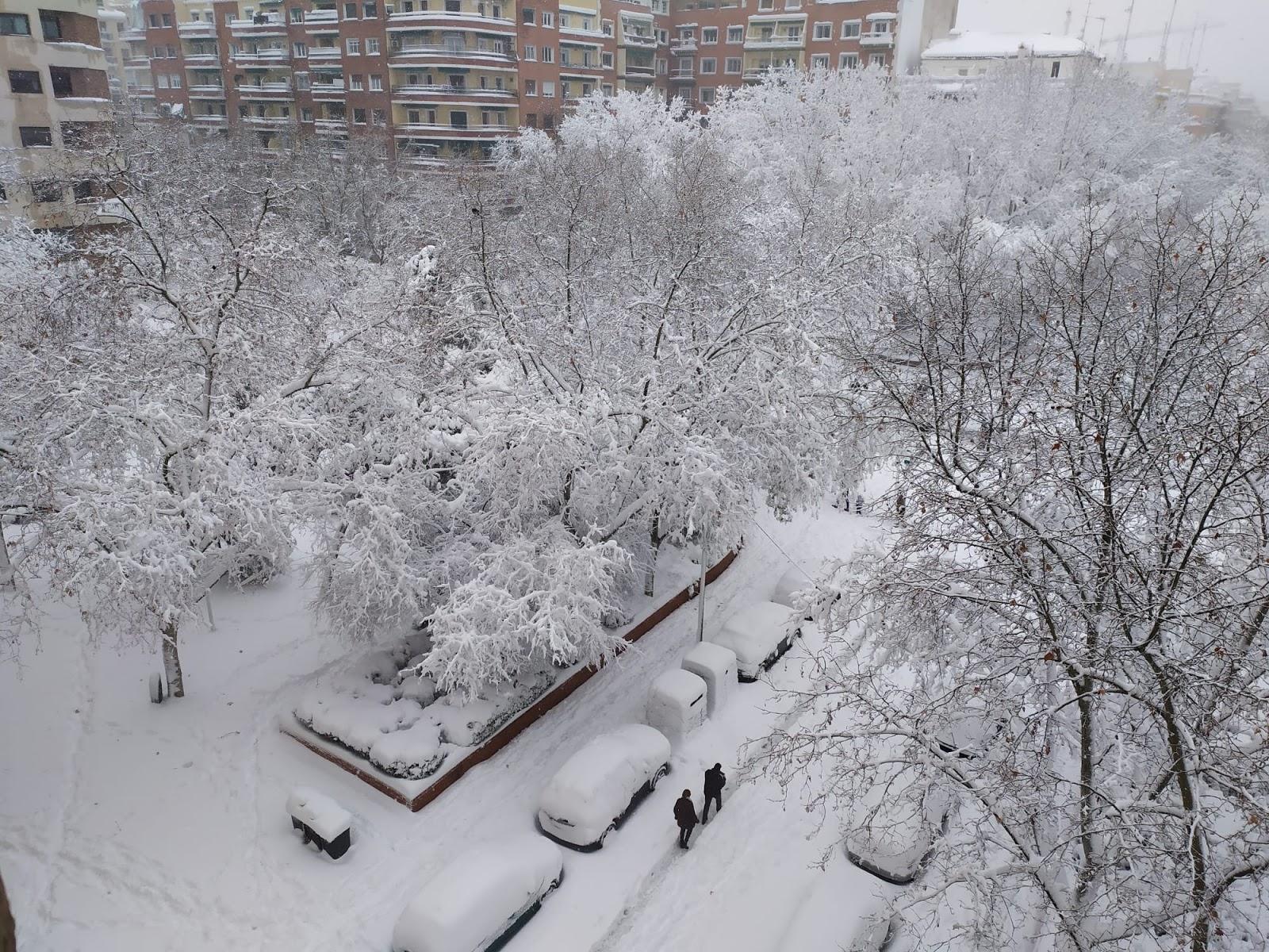 Plaza Luca de Tena, Madrid. Enero 2021